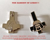 the darkest of lords!!! enameled pin ANTIqUED METaL AnD GLITTER LORD!!