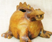 Dinosaur , Piggy Bank , Coin Bank , Creature , Ceramic , Handmade , Savings Bank , Sculpture , Made By Hand , Studio Pottery , Pottery , Art
