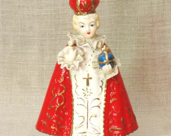 Child of Prague , Religious , Figurine , Japan , Religion , Ceramic , Figurines , Religious Figurine , Male Figure , Child , Male Portrait