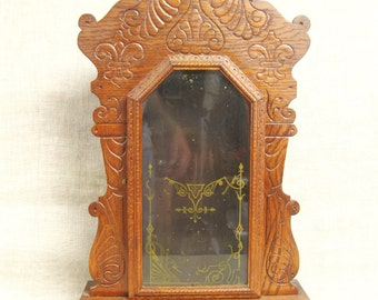 Clock Body , Antique , Mantel Clock , Wooden Clock Body , Ornate , Victorian Style , Case , Art Supplies , Shrine , Craft Supplies , Box