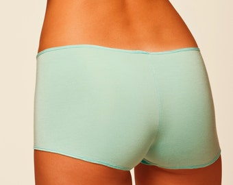 Womens Underwear - Baby Blue Panties Lingerie - Boyshort