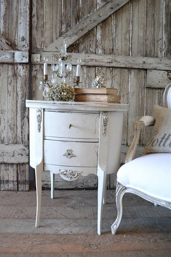 Shabby chic french table haute juice - Muebles shabby chic ...