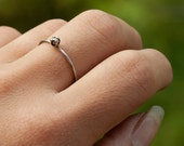 Teeny Tiny Sterling Silver Bead Ring
