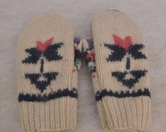 Recycled Wool Mittens, Upcycled Wool Mittens, Felted Wool Sweater Mittens, Sweater Mittens, Wool Mittens, Wisconsin Made