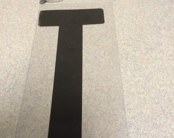 10 inch Black letter T marquee letter signage.