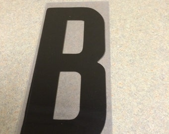 10 inch Black letter B marquee letter signage.