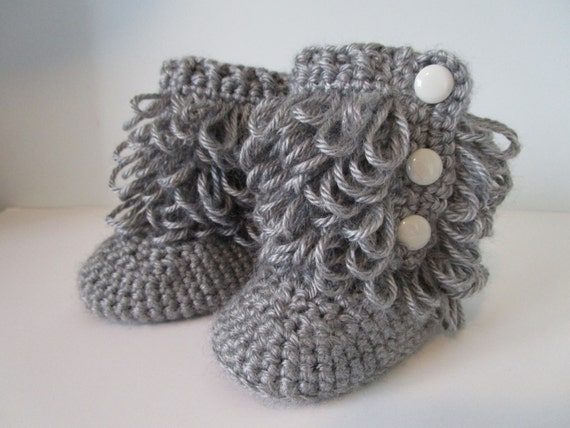 ... Ugg Boots, crochet loop boots, Slippers, Photo Prop, Ugg Style Boots