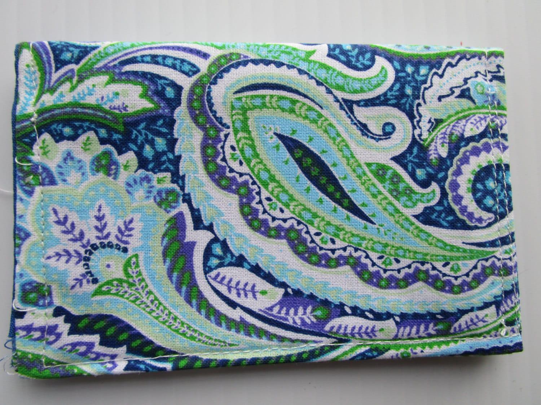 Paisley Print Credit Card Wallet, Vera Bradley Inspired Wallet ...