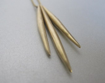 Solid 14k Gold Three Spike Necklace