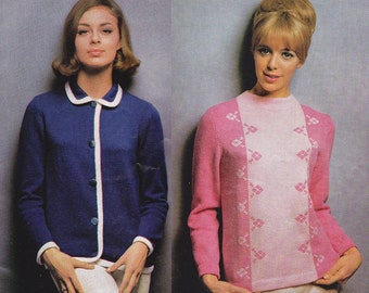 60s Vintage Womens Knitting patterns booklet Patons 718 MOD 5 ply Australian Patterns ORIGINAL Paper Patterns Not PDF