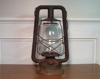 Vintage 1930's/1940's Dietz Monarch Lantern w/Square Frame