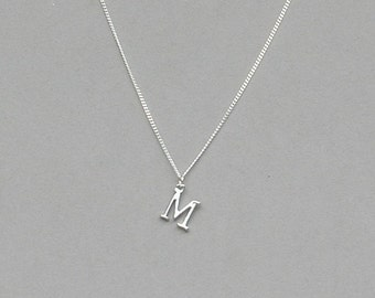 Silver Plated Initial M Necklace