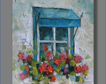 Floral Painting, Red Oil Painting, Original Oil Painting, Art, Contemporary Painting, 8x10,  Art, Painting, Still Life Painting
