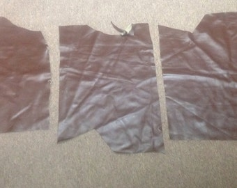 595RMNT.  Package of 3 Oxford Brown Leather Cowhide Remnants