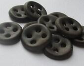 Fudge Brown Ceramic Buttons