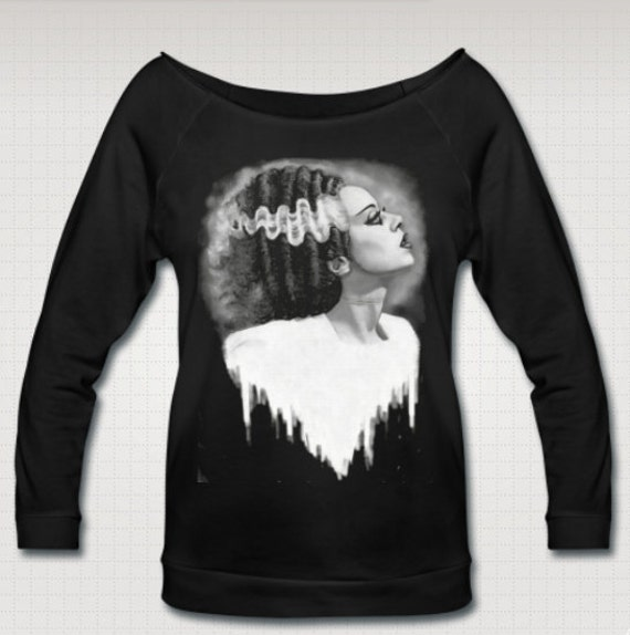 The Bride of Frankenstein Wideneck 3/4 Sleeve Shirt