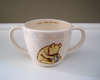 """Vintage Winnie The Pooh child's cup """"Three Cheers for Pooh"""""""
