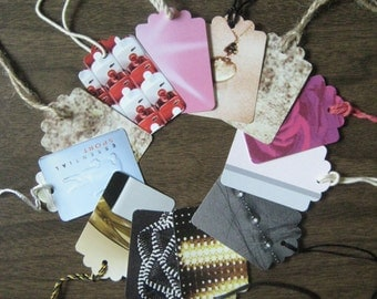 Reclaimed paper gift tags