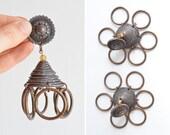 Vintage 1980s JEAN PAUL GAULTIER copper statement earrings
