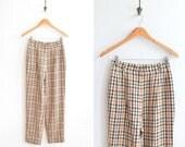 Vintage 1990s DAKS checkered wool trouser pants