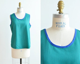 CLEARANCE / Vintage 1980s two-tone tank top