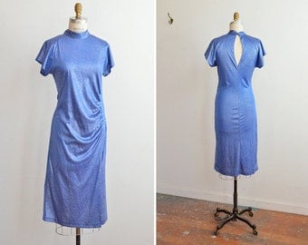 Vintage 1980s METALLIC cocktail dress
