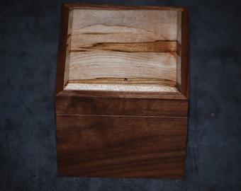 Walnut  and Ambrosia Maple  Watch Box