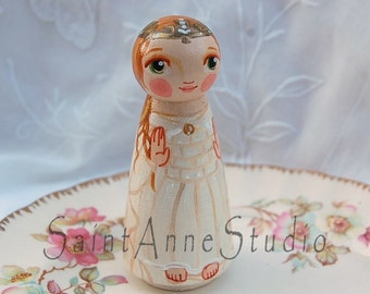 Our Lady of Knock Ireland Catholic Saint Doll - Wooden Toy - Made to Order
