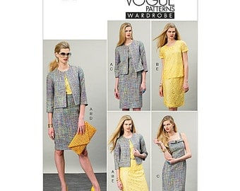 Sz 14/16/18/20/22 - Vogue Separates Pattern V8916 - Misses' Jacket, Top, Dress and Skirt - Vogue Wardrobe Pattern