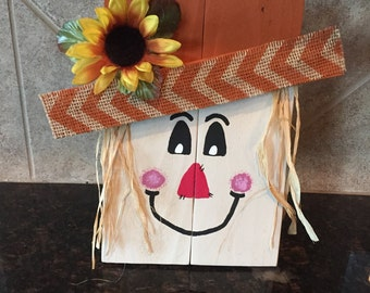 Wood Scarecrow Chevron - Fall Decor