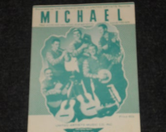 Vintage Sheet Music-Michael-Recorded by The Highwaymen-1960