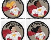 Superhero Geek Merit Badge Patch