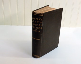 Casper's Genito-Urinary Diseases 1909 230 Illustrations 8 Full Page Color 2nd Edition Hardcover Male Medical Text