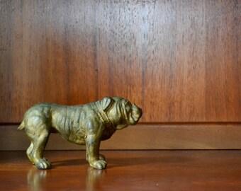 antique bronze english bulldog figurine