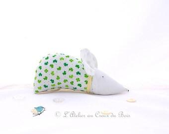 St Patricks day decor shamrocks design  organic gift green design organic lavender sachet natural flagrance