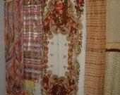 Scarf Shower Curtain, Gypsy, Bohemian. 70 x 60 Inches