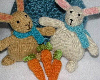 Easter Bunny Rabbit / Basket of Bunnies /  Rabbits and Carrots Play Set