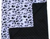 Minky Blanket - Soccer Double Minky Baby Blanket, Baby Gift, Soccer Toddler Bedding, Crib Bedding Stroller Blanket, Travel Blanket