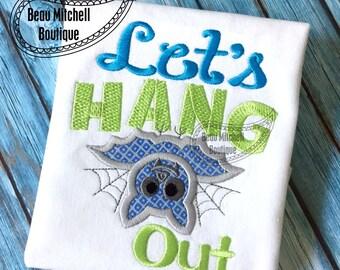 Let's hang out Bat halloween design