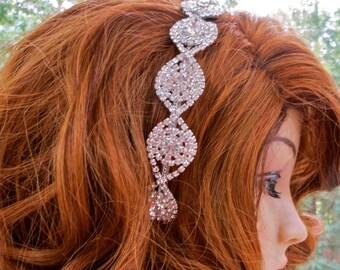 Rhinestone Bridal Hair Comb, Rhinestone Wedding Hair Comb