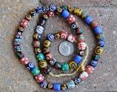 African Mixed Round Krobo Beads 11mm