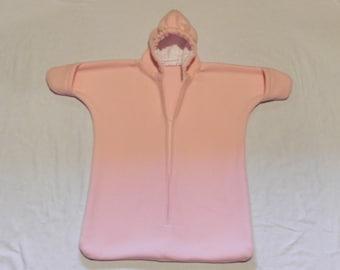 Girls Pink Fleece Baby Bunting Coat Newborn to 6 months