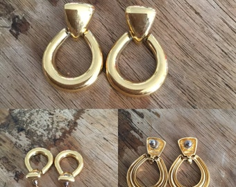 Vintage / Gold / Costume / Earrings