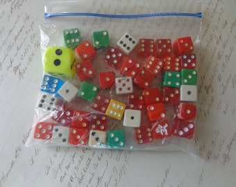 Bag of assorted dice