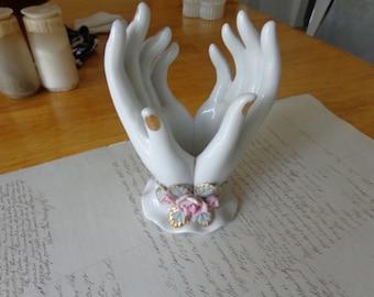 Vintage porcelain hands for trinkets, etc