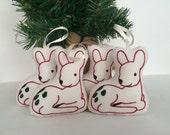 READY TO SHIP - Baby Deer Christmas Ornament - Hand-Embroidered - Woodland Christmas - Woodland Decor - New Baby Gift - Baby's Christmas