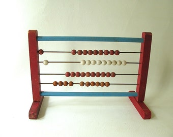 Vintage Abacus, Toy, wood, learning, educational