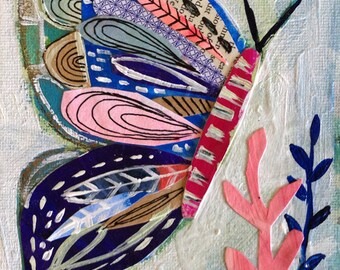 Butterfly Collage Taking Flight 8 x 10 Art Print
