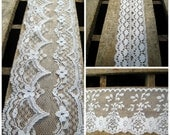 Lot of 3 Different Lace Trims - 1 1/2 +2 + 5 Yards - White  Delicate