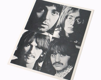 The Beatles Black and White Fan Photo John Lennon Paul McCartney George Harrison Ringo Starr